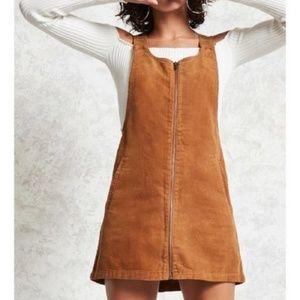 🍁❄️🌞Forever21 Corduroy Overall Mini Dress